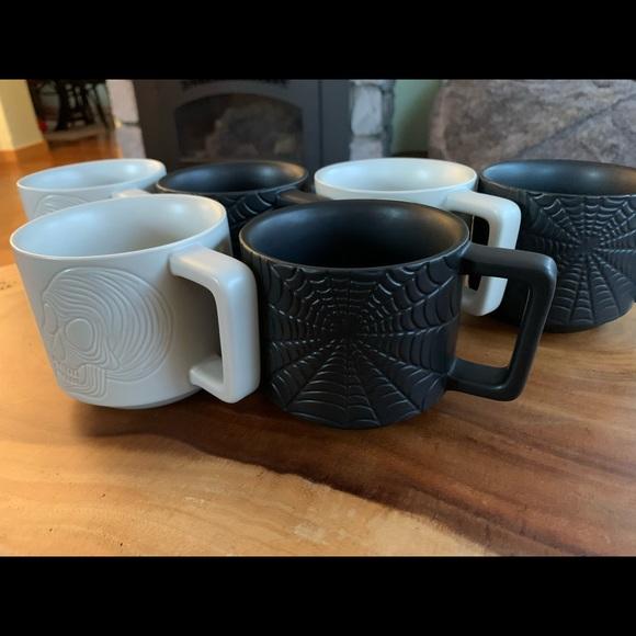 Set of 6 matching 2019 Starbucks Halloween Mugs